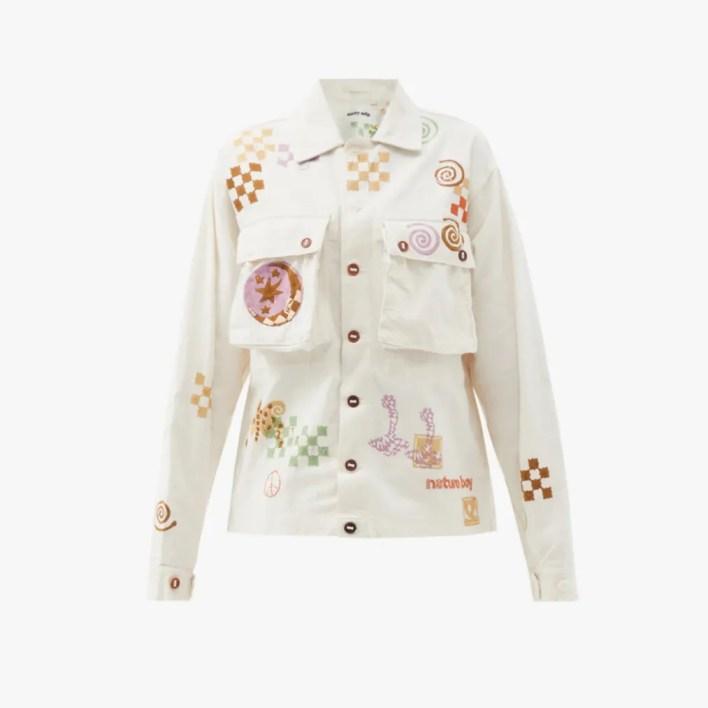 Image may contain: Clothing, Apparel, Sleeve, Long Sleeve, Blouse, Pajamas, and Coat