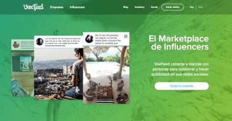 voxfeed app para encontrar influencers