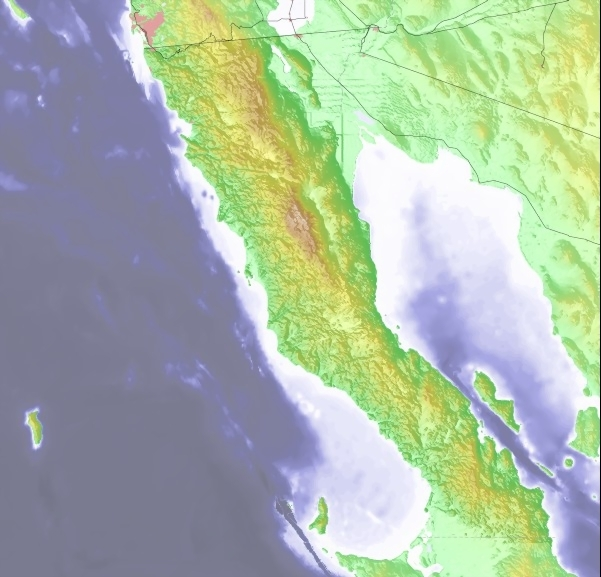 Baja California Weather Map