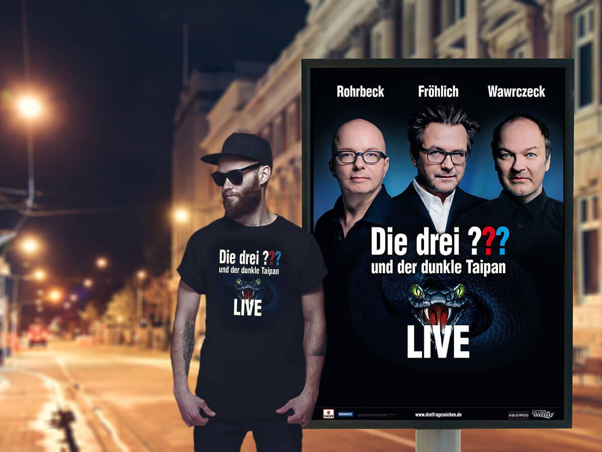 Kreation Die Drei Keyvisual Live Tour 2019 Fur Sony Music Entertainment Von Kb B Family Marketing Experts