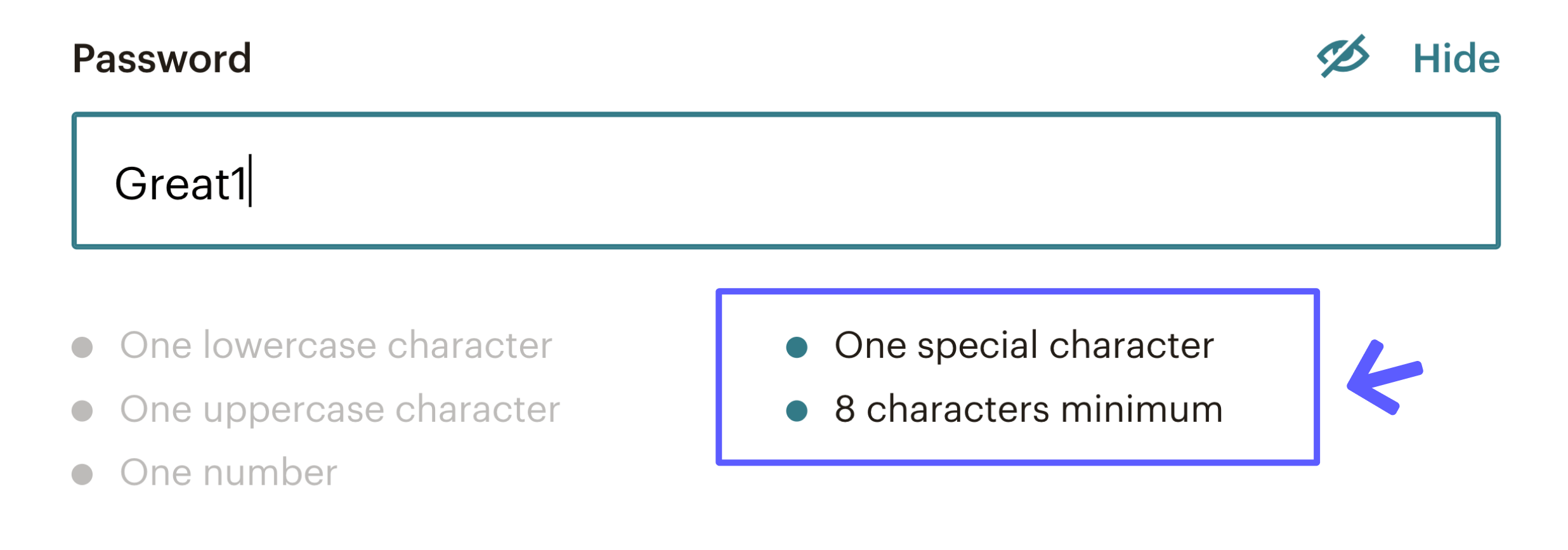 Mailchimp S Real Time Password Checker