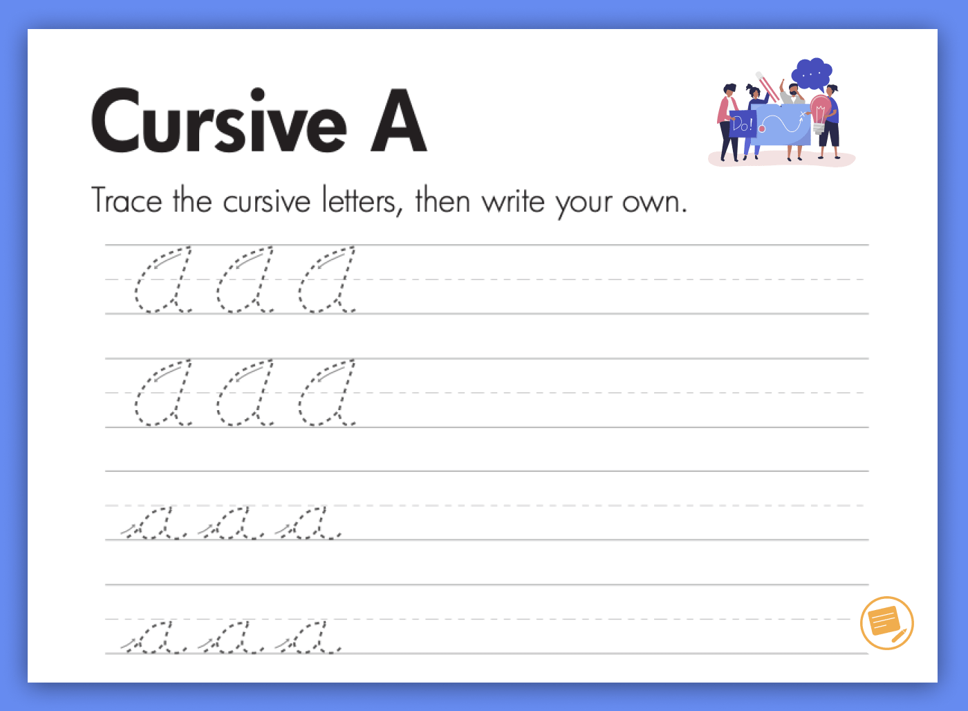 The Easiest Way To Learn How To Write In Cursive