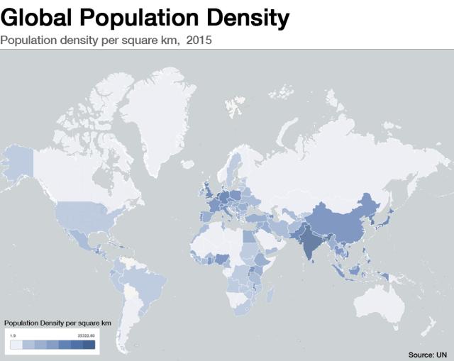 Global Population Density