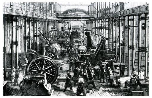 The Industrial Revolution in Britain propelled the first wave of globalization