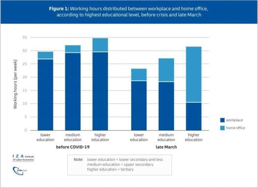 Trabalho remoto trabalho de casa desigualdade de nível de educação