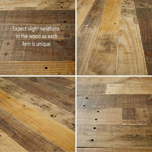 reclaimed pine block coffee table natural