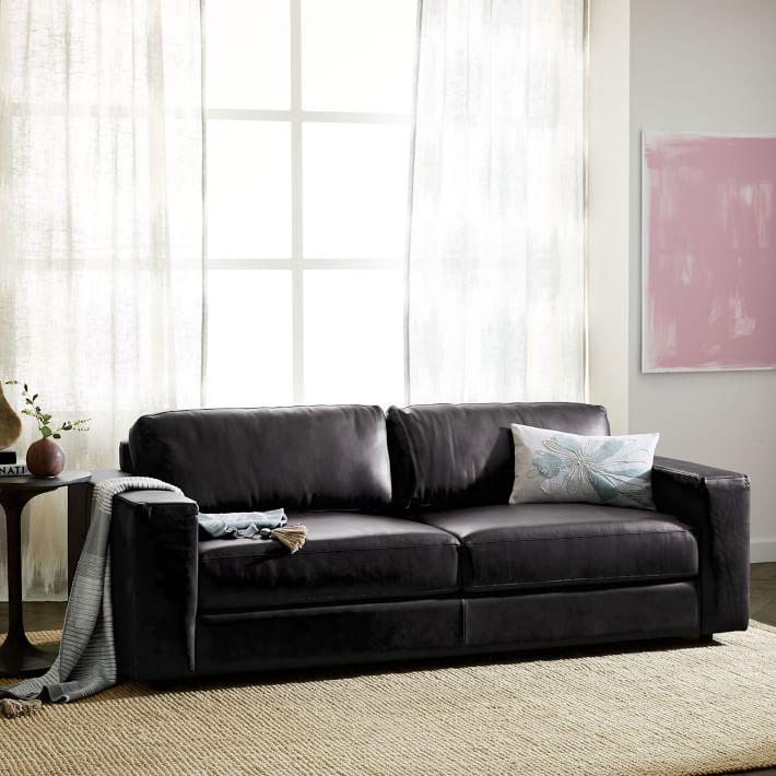 urban leather sleeper sofa