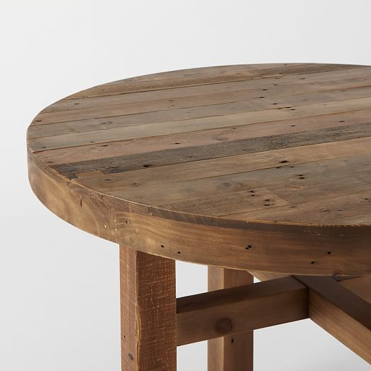 emmerson reclaimed wood round dining table