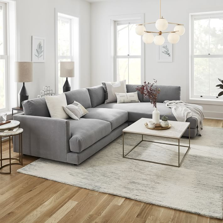 haven 2 piece terminal chaise sectional