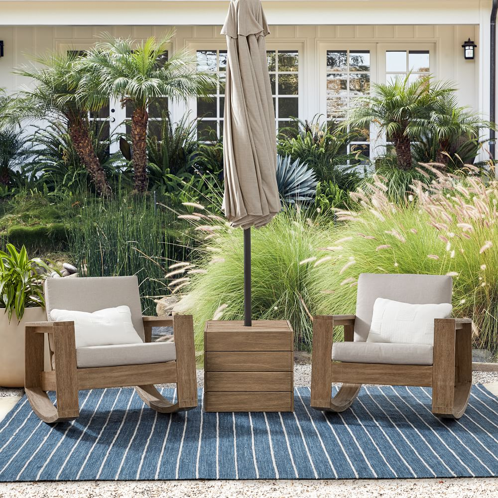 portside outdoor rocking chairs umbrella side table set