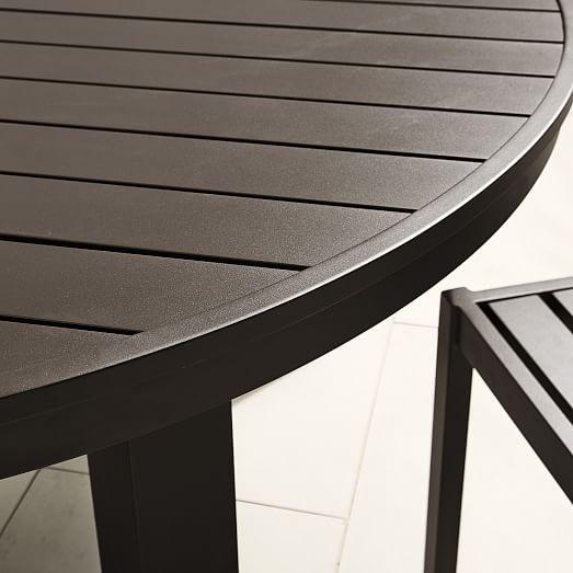 portside aluminum outdoor round dining