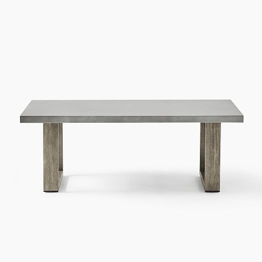 concrete outdoor coffee table weathered wood