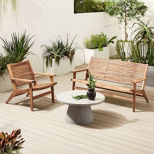 acadia outdoor loveseat lounge chair set