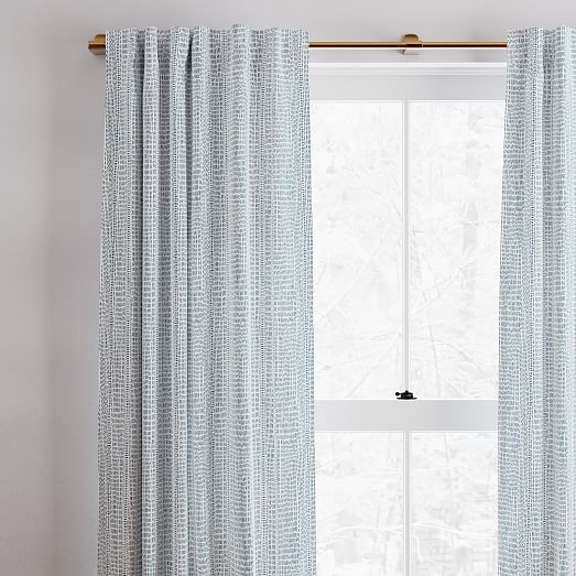 cotton canvas bomu curtains set of 2 blue teal