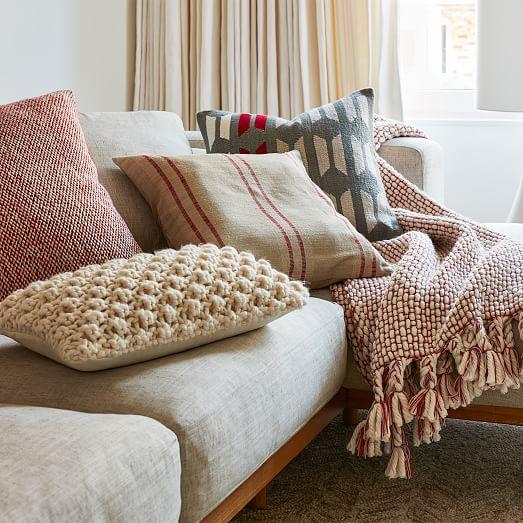 silk stripes pillow cover