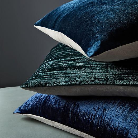 lush crinkle velvet pillow covers