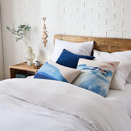 cotton velvet indigo pillow covers