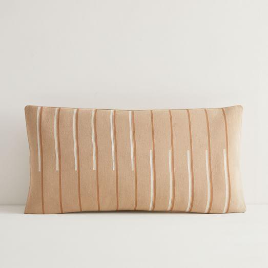 juneday hana hazelnut lumbar pillow cover small