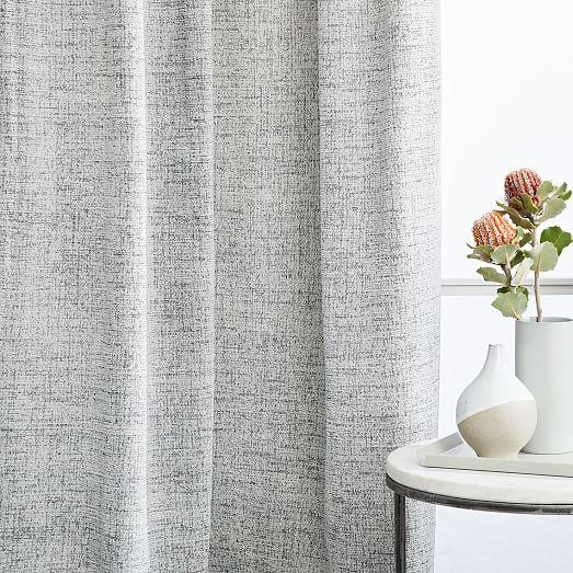 distressed textured velvet curtain