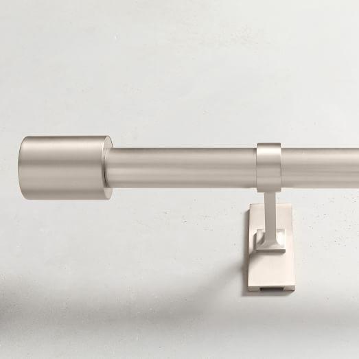 oversized adjustable metal rod brushed nickel