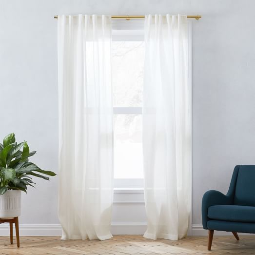 sheer european flax linen curtain alabaster