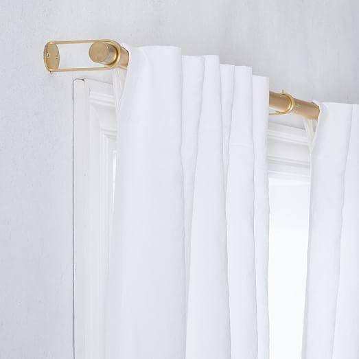 custom size european flax linen curtain white