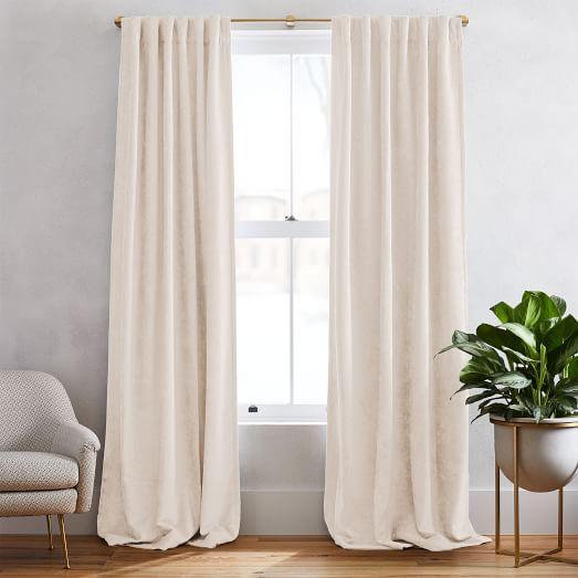 worn velvet curtain alabaster