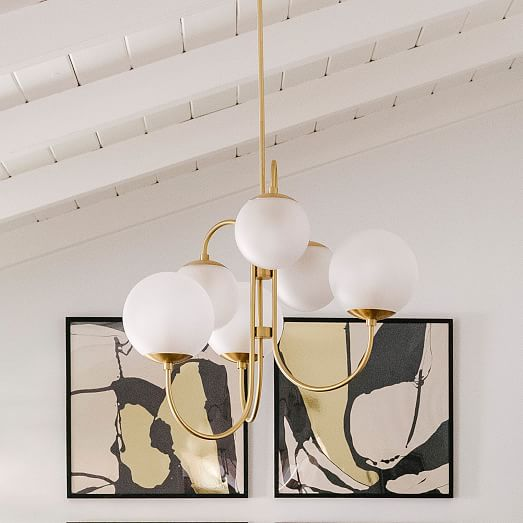 pelle gooseneck chandelier