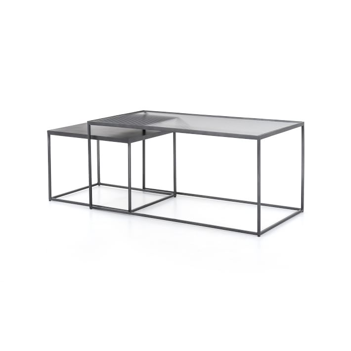 Iron Glass Nesting Coffee Table