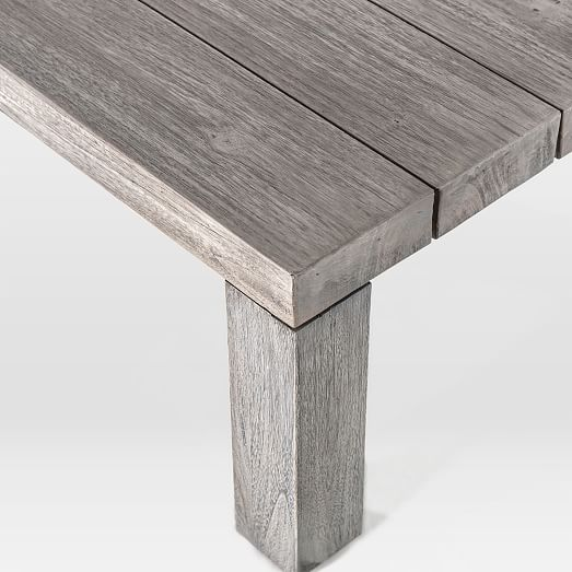 modern wood outdoor dining table