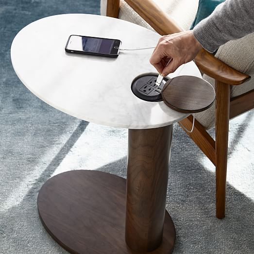 alva charging c side table
