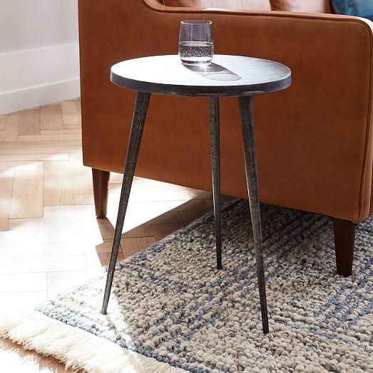 cast tripod side table