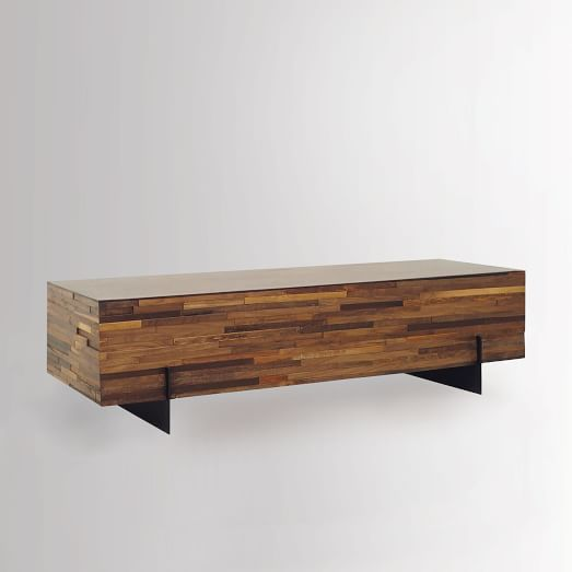 mixed wood coffee table