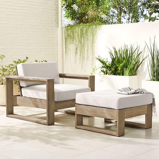portside outdoor lounge chair ottoman set