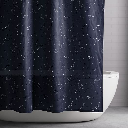 organic constellation shower curtain