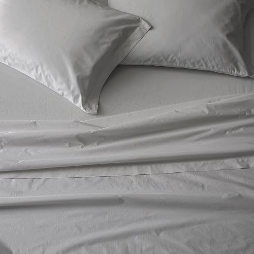 400 thread count organic cotton percale sheet set pillowcases
