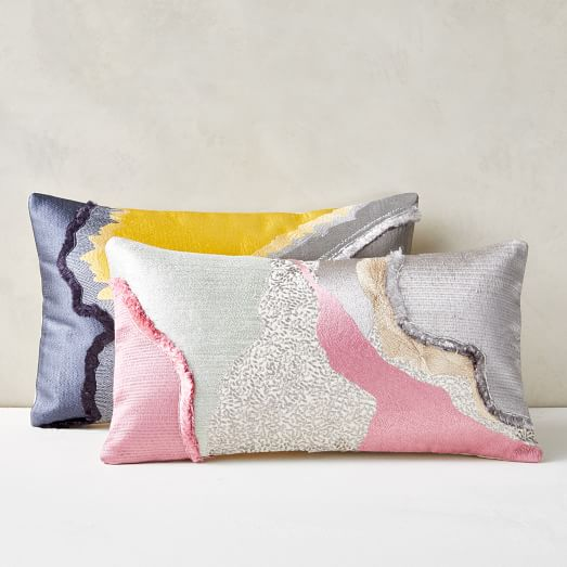 scattered embroidery pillow cover