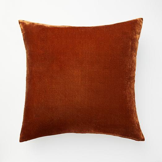 lush velvet pillow cover copper
