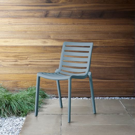 stackable slat outdoor chairs set of 2