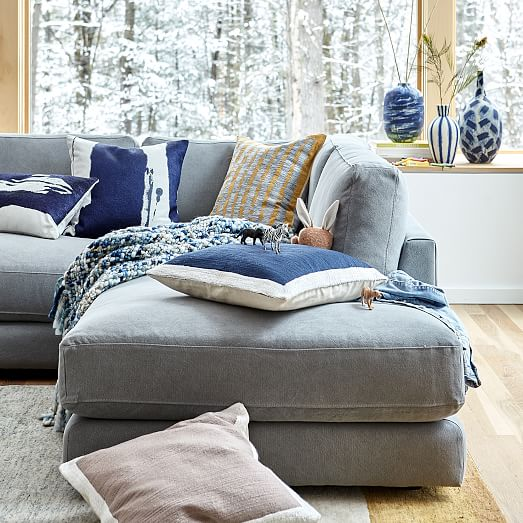 textured border pillow covers