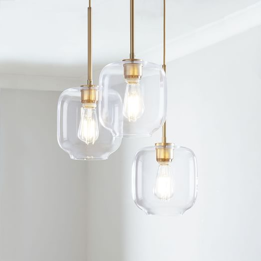 build your own sculptural glass 3 light chandelier