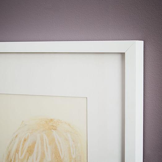 simply framed oversized gallery frame white mat