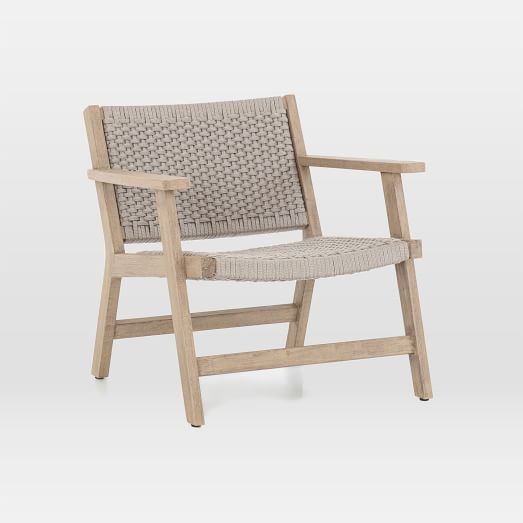 teak wood rope outdoor chair