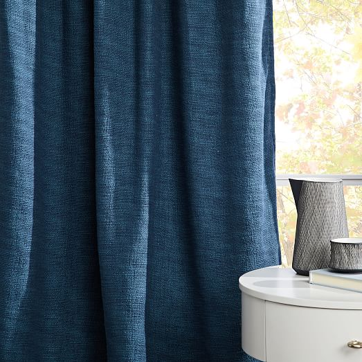 textured weave curtain blackout