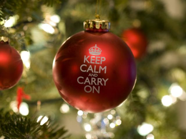 keep calm and carry on ball