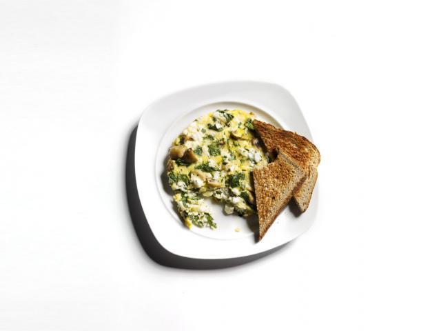 Flat belly breakfast mushroom and feta frittata issue 12