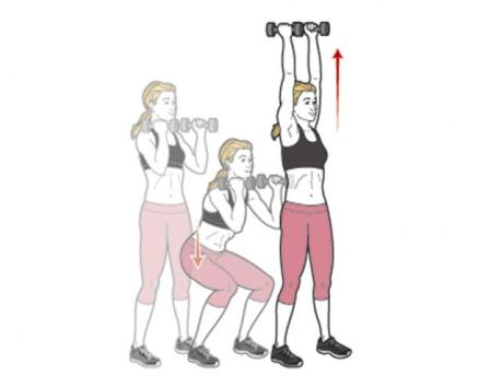 Image result for DUMBBELL SQUAT TO OVERHEAD PRESS