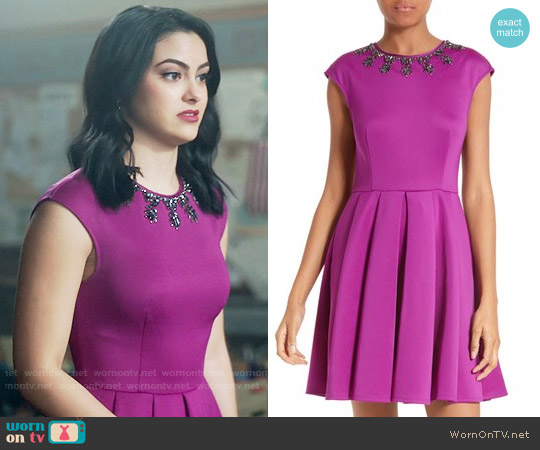 Ted Baker J'adore Embellished Fit & Flare Dress worn by Camila Mendes on Riverdale