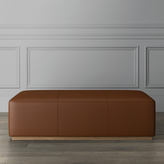 berkshire leather coffee table ottoman