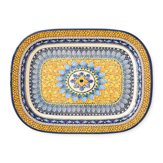 Sicily Outdoor Melamine Large Rectangular Platter
